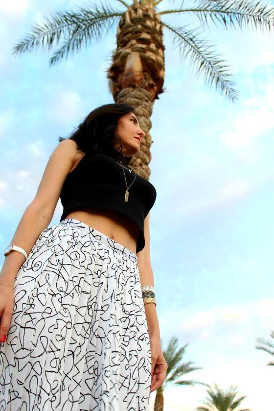 80s Skirt Crop Top 10