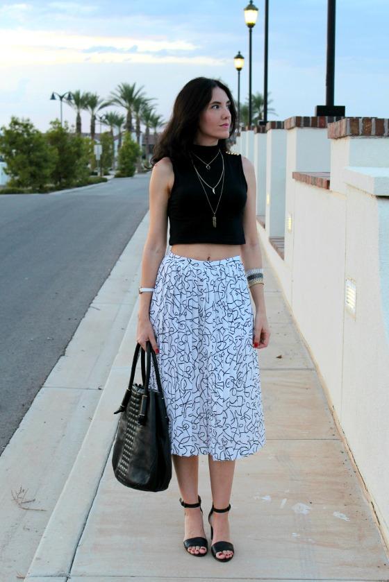 80s Skirt Crop Top 11
