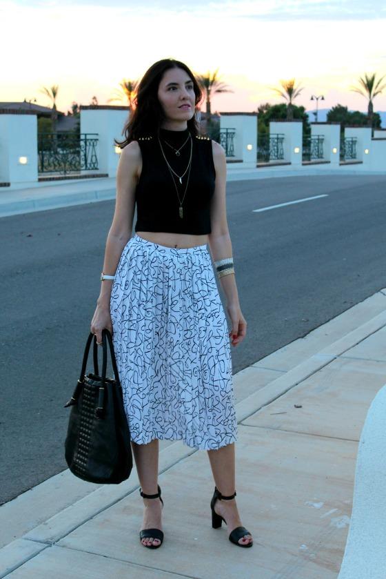 80s Skirt Crop Top 13