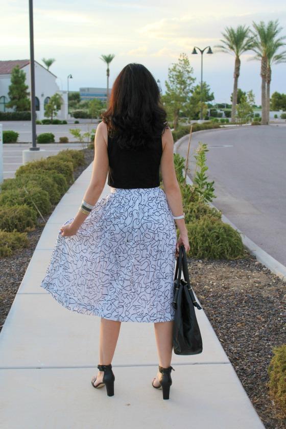 80s Skirt Crop Top 3