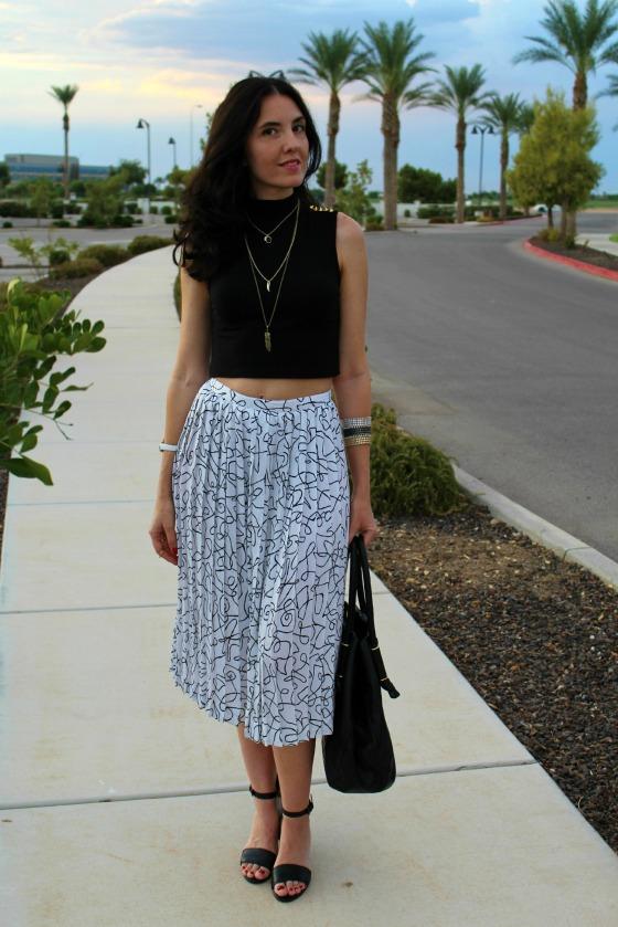 80s Skirt Crop Top 9