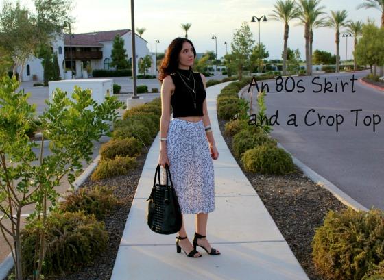 80s Skirt Crop Top