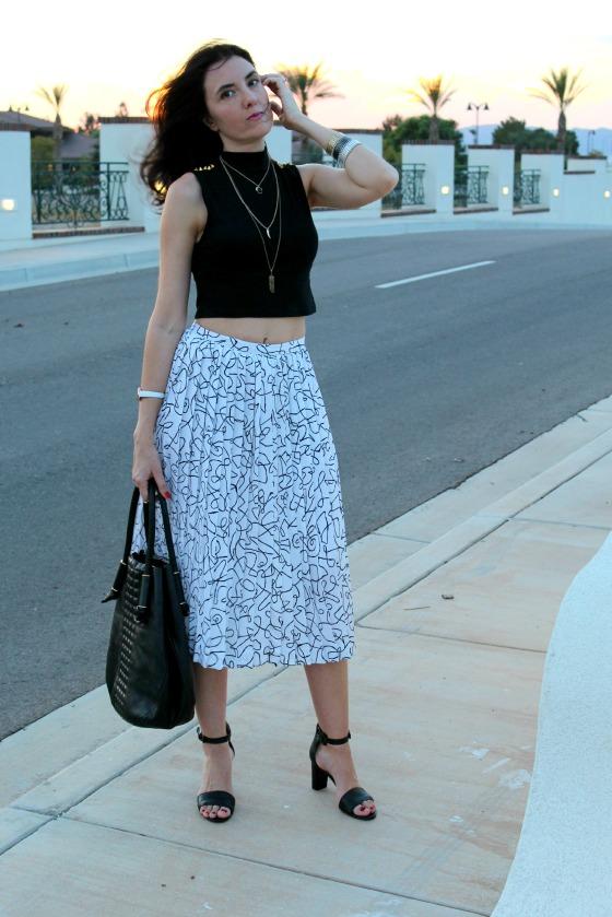 80s Skirt Crop Top 14