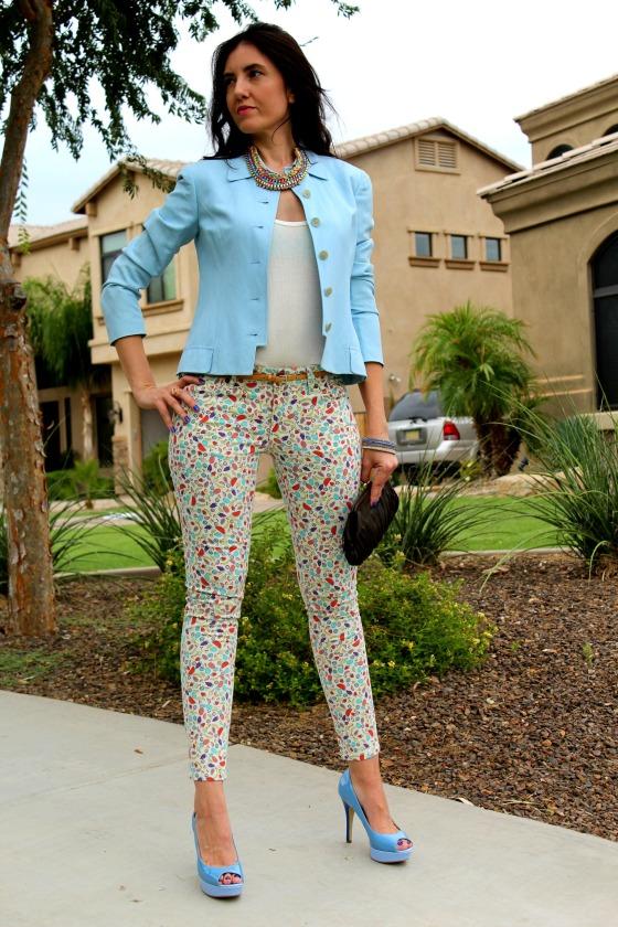 Blue Blazer Skinny Jeans 2