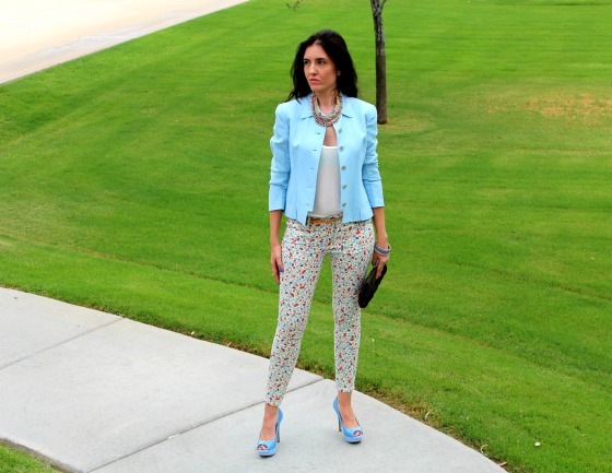 Blue Blazer Skinny Jeans 4
