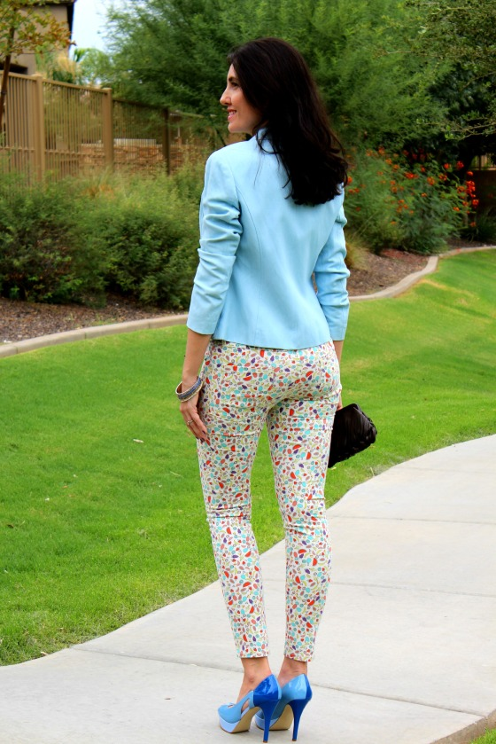 Blue Blazer Skinny Jeans 7