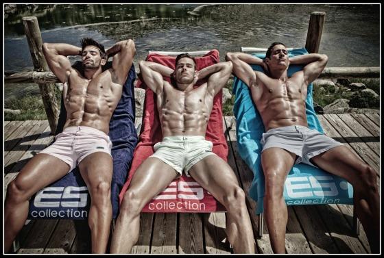 Male Swimwear Trio