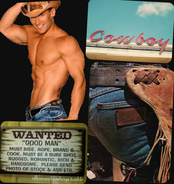 Cowboy Man Candy Collage