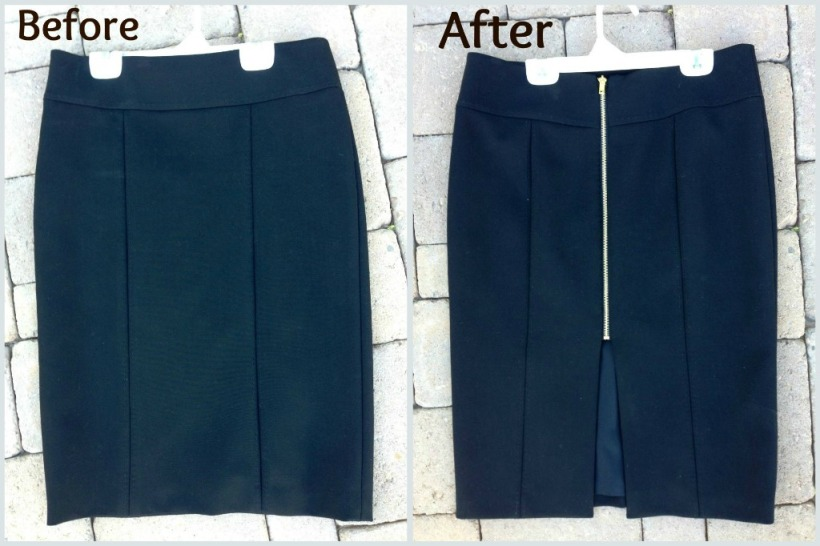 Pencil Skirt Zipper Diy